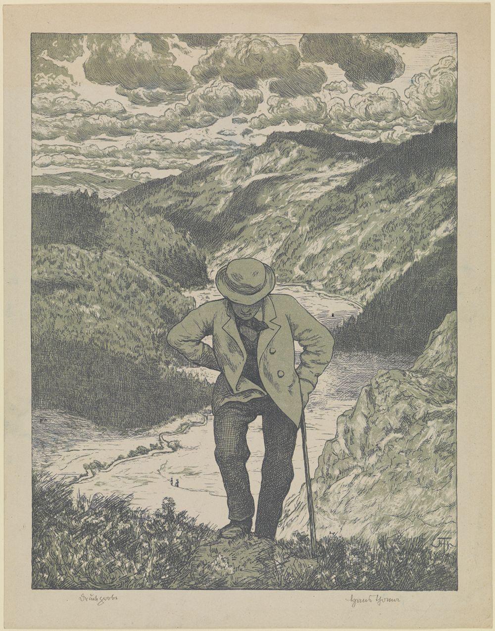 Der Wanderer (Meisterblatt)