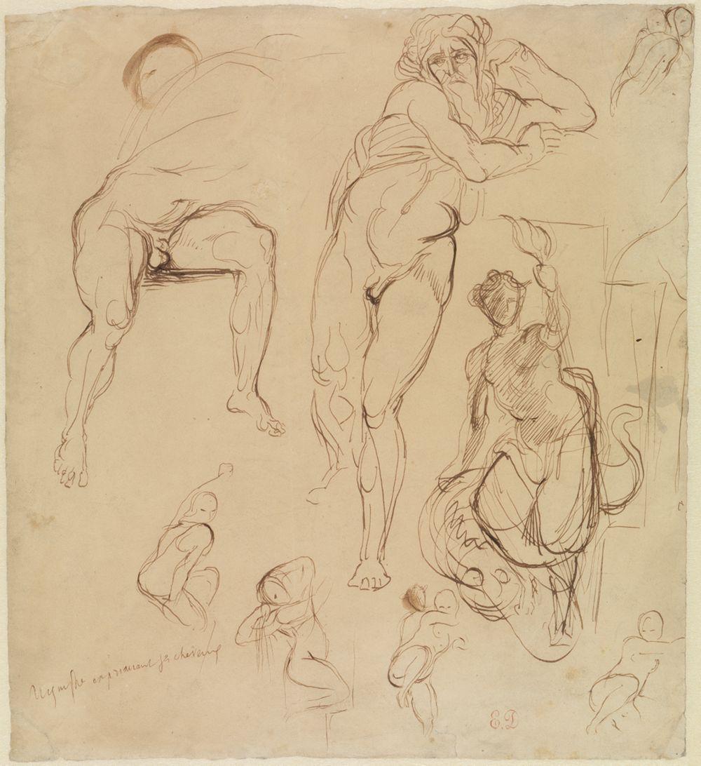 Zwei männliche und sechs weibliche Figuren