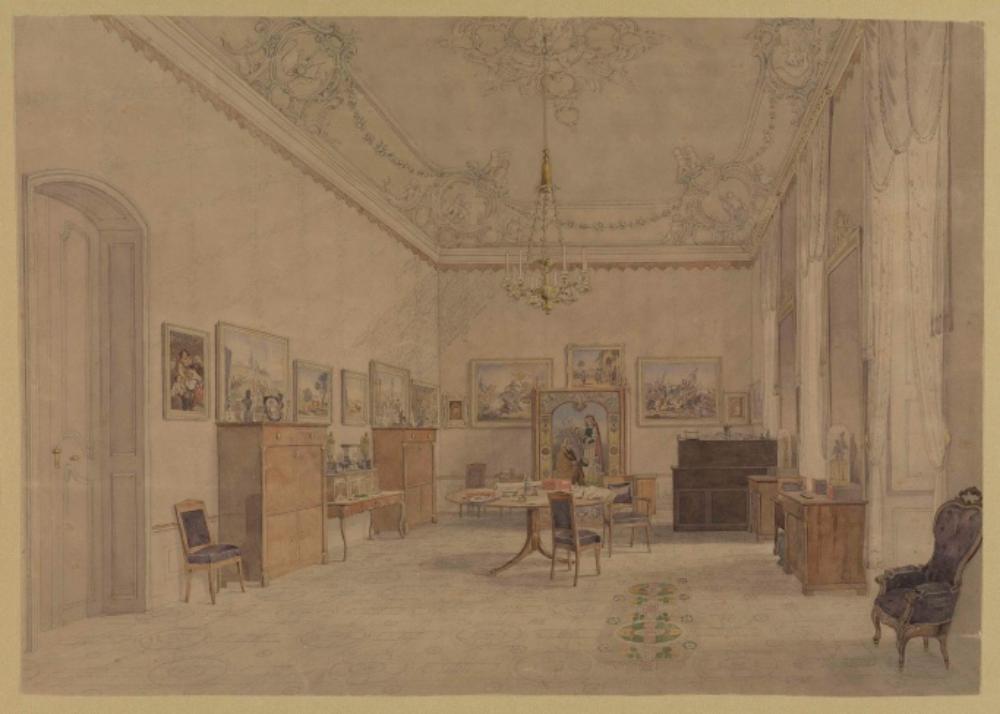 Das Wohnzimmer Großherzog Leopolds im Karlsruher Schloss