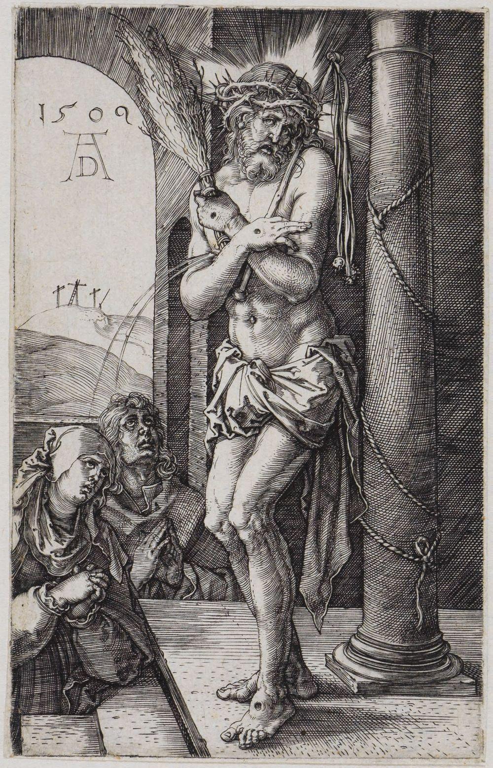 Der Schmerzensmann vor Maria und Johannes