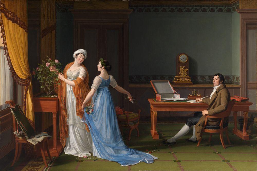 Der Graf de La Forest mit Frau und Tochter