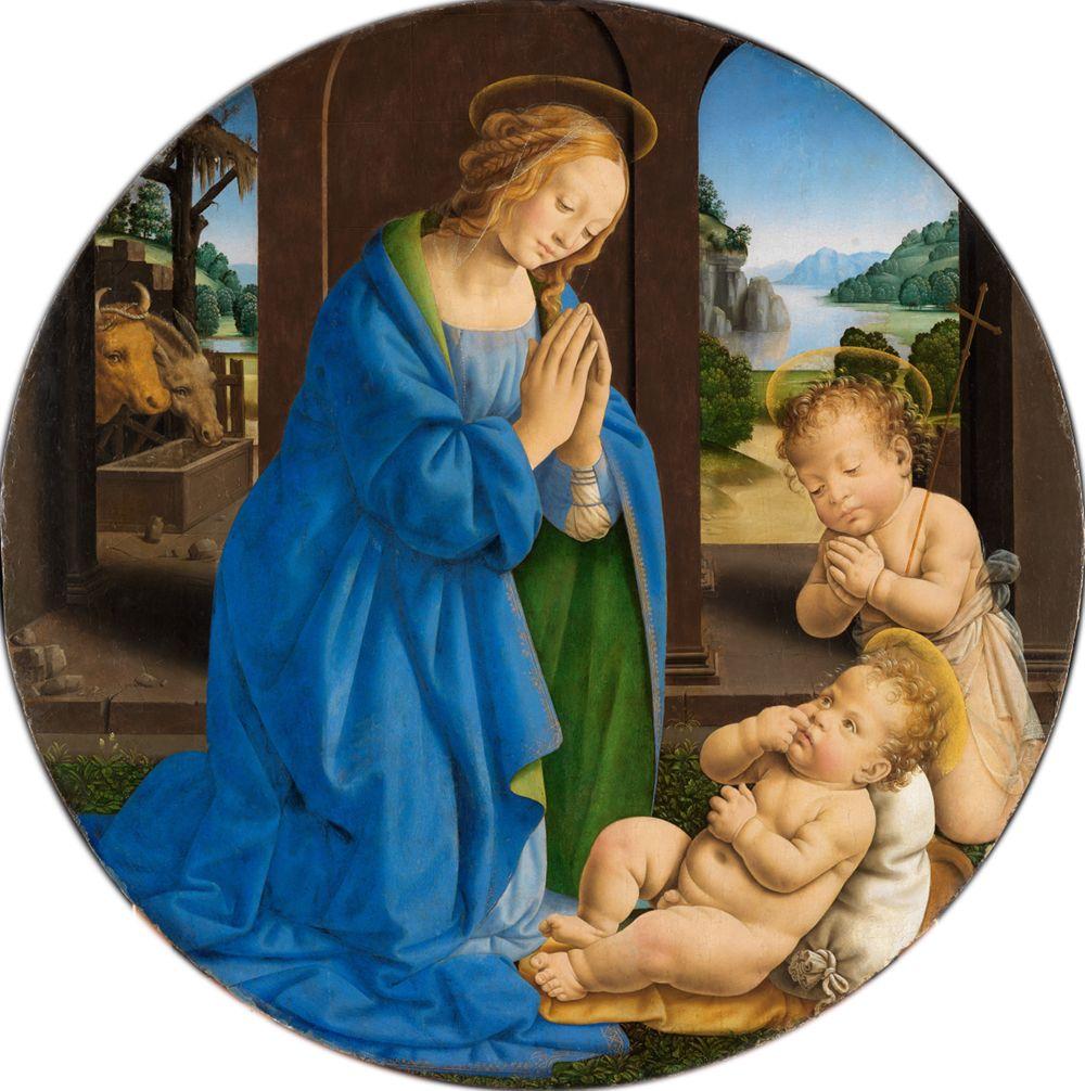 Maria, das Kind anbetend, mit dem Johannesknaben