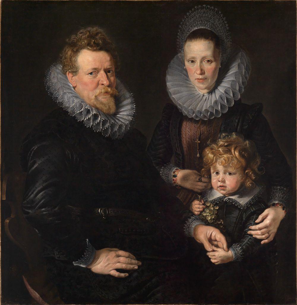 Bildnis eines Ehepaares mit einem Kinde