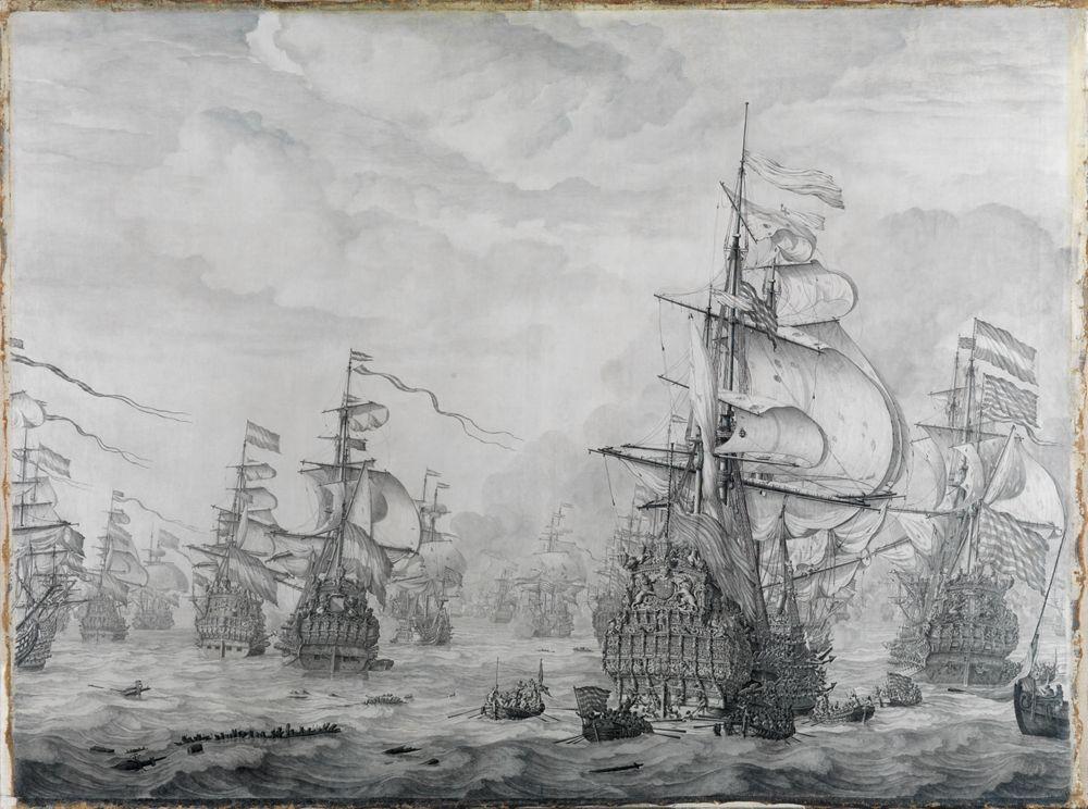 Die Eroberung der Royal Prince während der viertägigen Schlacht 1666