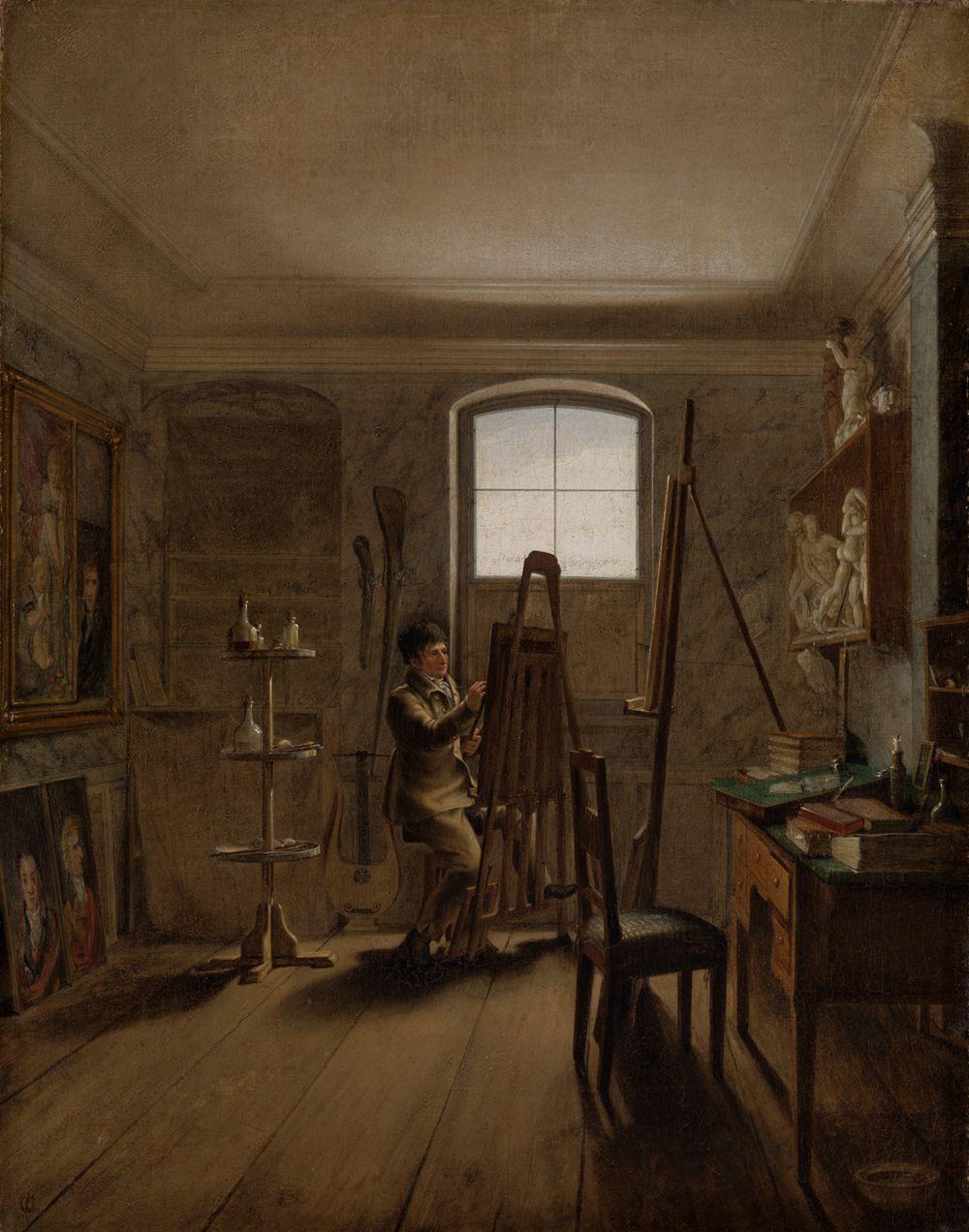 Der Maler Gerhard von Kügelgen in seinem Atelier