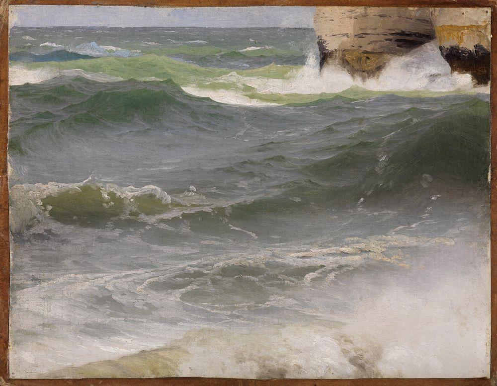 Meeresstudie bei Etretat (mit Felsküste zur Rechten)