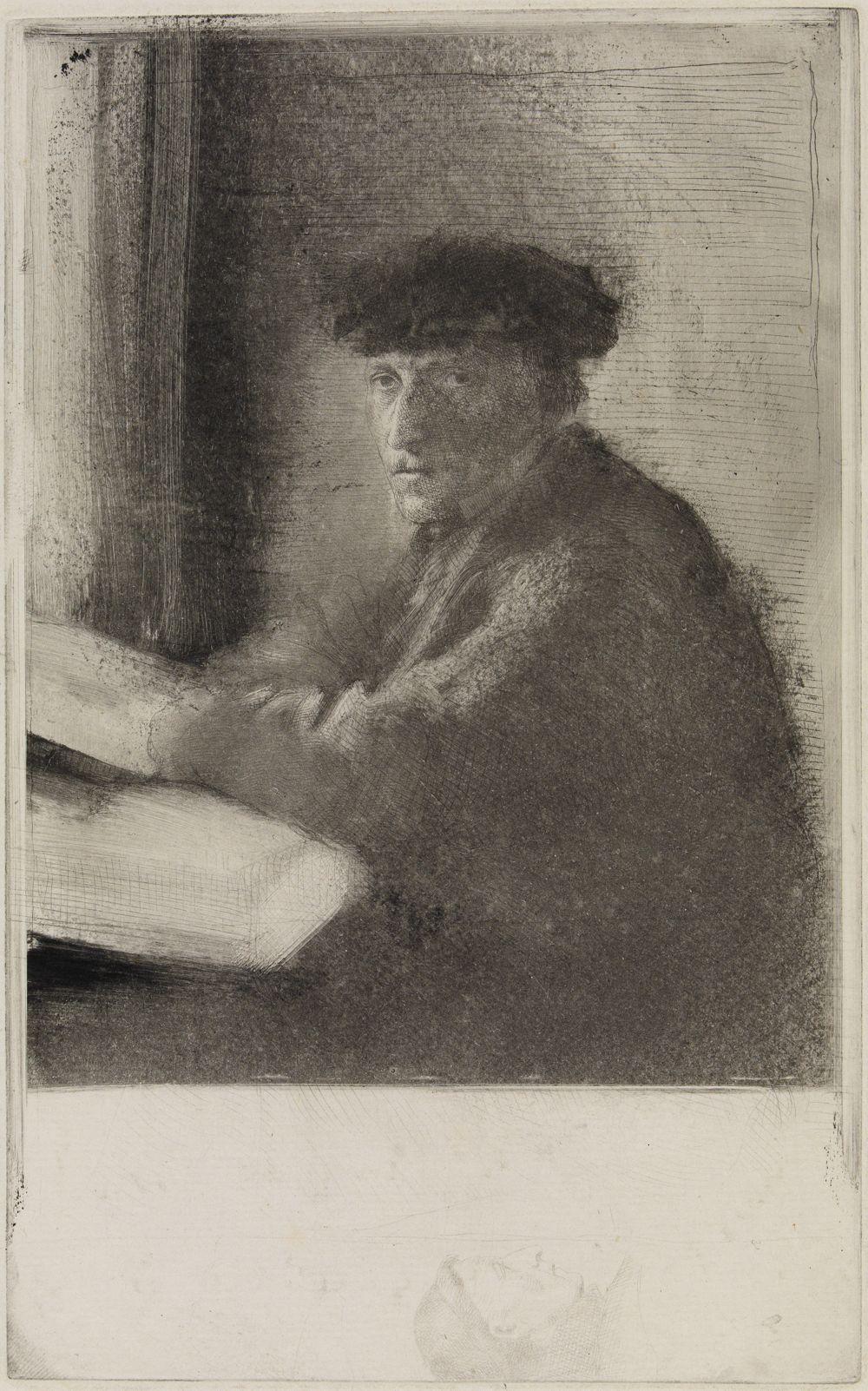 Der Stecher Joseph Tourny, in halber Figur