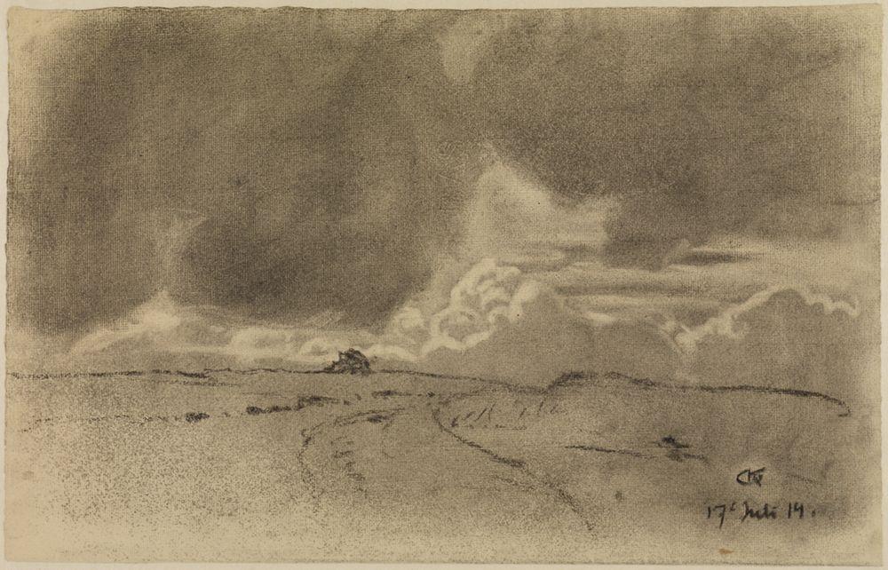 Luft- und Wolkenstudie