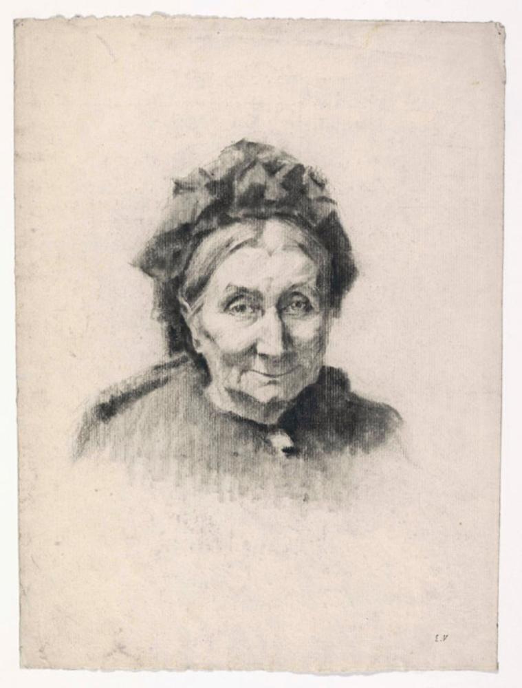Bildnis (Schulterstück) der Großmutter des Künstlers, Madame Michaud