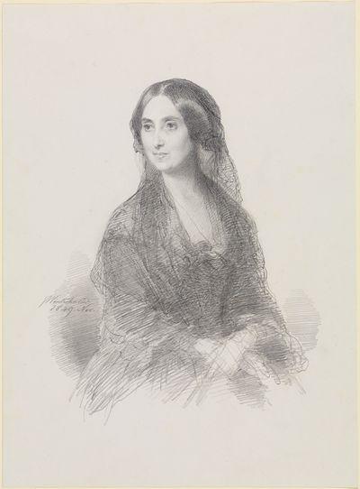 Bildnis einer Dame in spanischem Kostüm, sitzend, in halber Figur