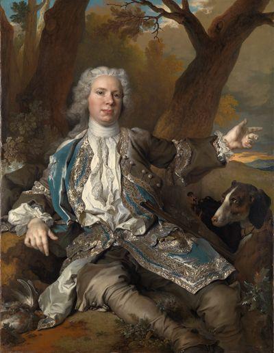Bildnis eines jungen Edelmannes im Jagdkostüm