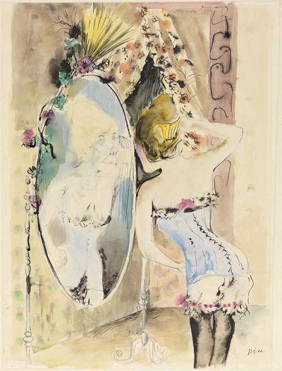 Mädchen am Spiegel