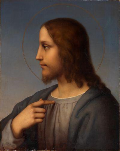Brustbild Christi im Profil