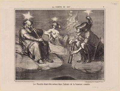Les planètes étant elles-memes dans l'attente de la fameuse comete (La Comète de 1857, Blatt 9)