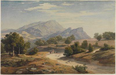 Blick von Osten auf Rocca Canterano und die Mamellen im Hintergrund