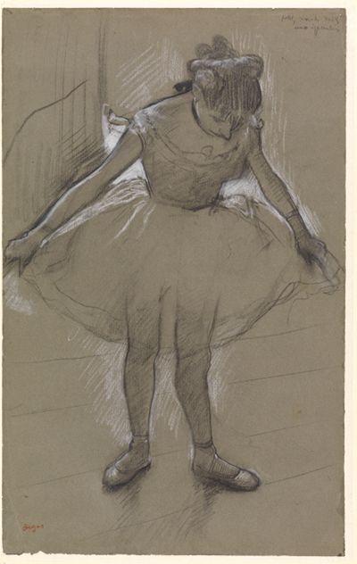 Junge Tänzerin im Gegenlicht