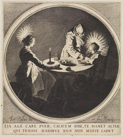 Die Heilige Familie bei Tisch