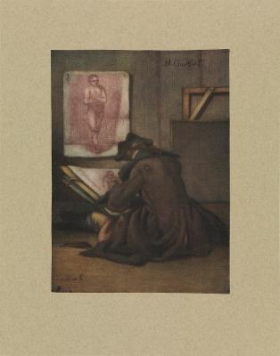 Der Zeichner (Le dessinateur devant le modèle)