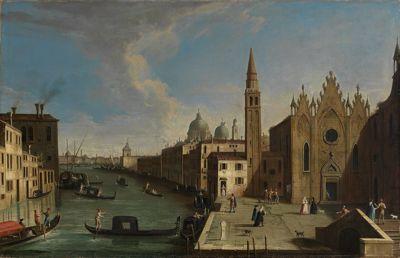 Blick auf den Canale Grande, von der Chiesa della Caritià bis zum Bacino di S.Marco
