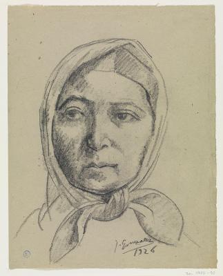 Marie-Thérèse mit Kopftuch