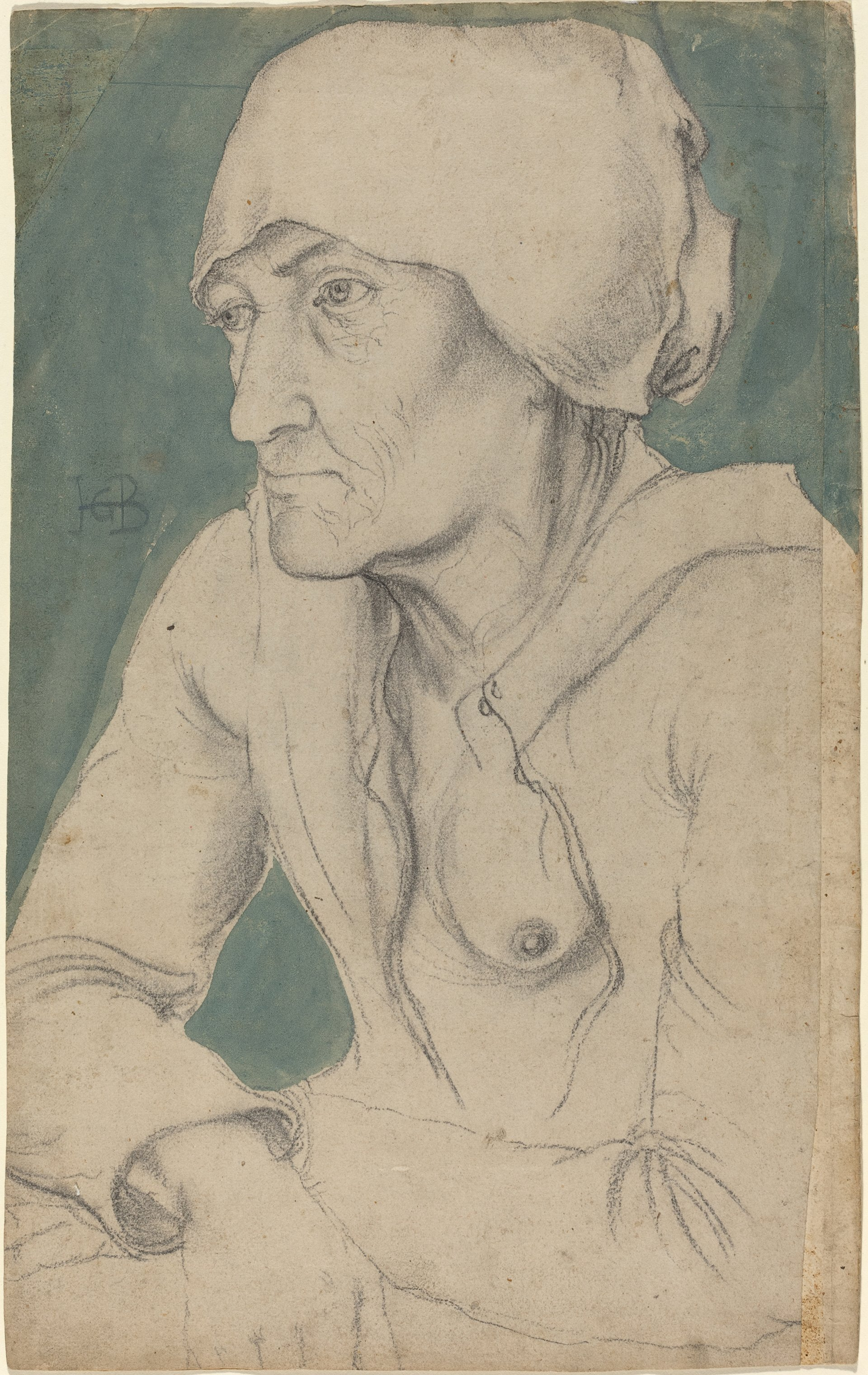 Image of Hans Baldung Grien: Half-Figure of an Old Woman with a Cap, c. 1535, lent by National Gallery of Art Washington.
