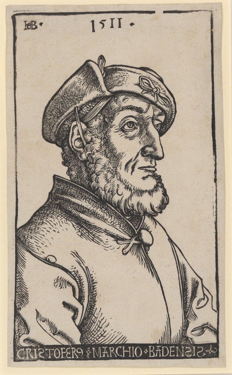 Abbildung des Werks Christoph I. Markgraf von Baden des Renaissance-Künstlers Hans Baldung Grien aus dem Jahr 1511