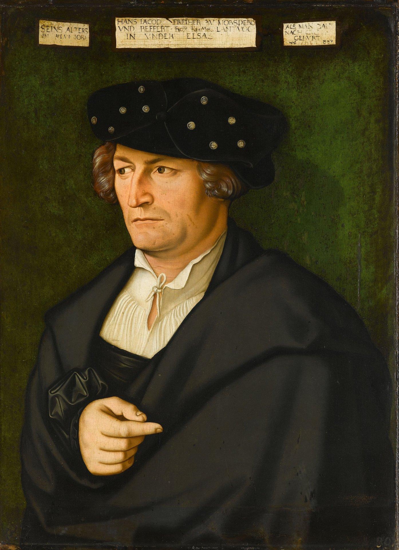Abbildung des Werks Bildnis des Freiherrn Hans Jakob zu Mörsberg und Beffert des Renaissance-Künstlers Hans Baldung Grien aus dem Jahr 1525
