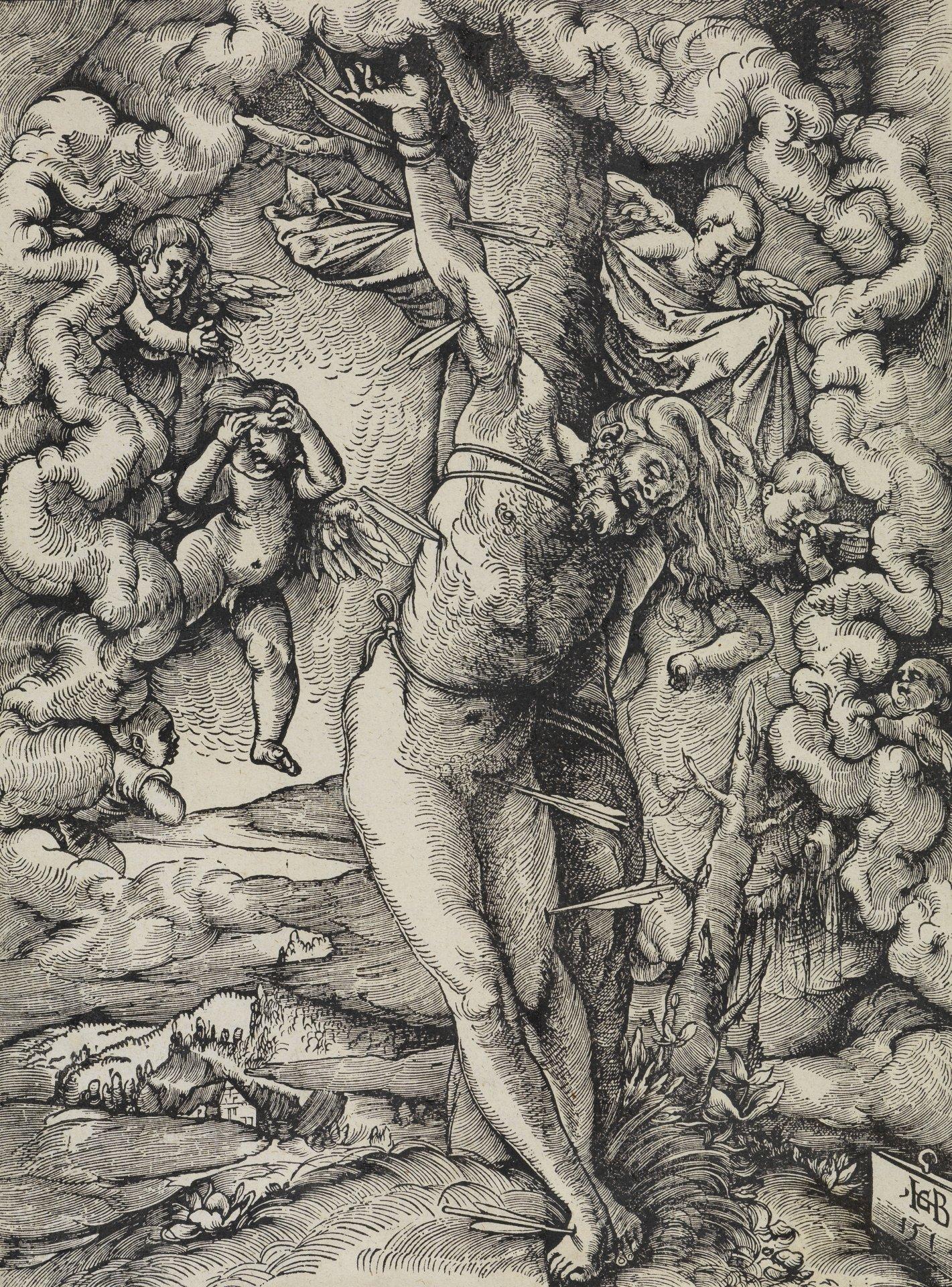 Abbildung des Werks Der große heilige Sebastian des Renaissance-Künstlers Hans Baldung Grien aus dem Jahr 1514