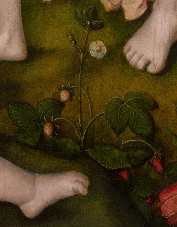 Detailabbildung des Gemäldes Die sieben Lebensalter der Frau des Renaissance-Künstlers Hans Baldung Grien aus dem Jahr 1544.
