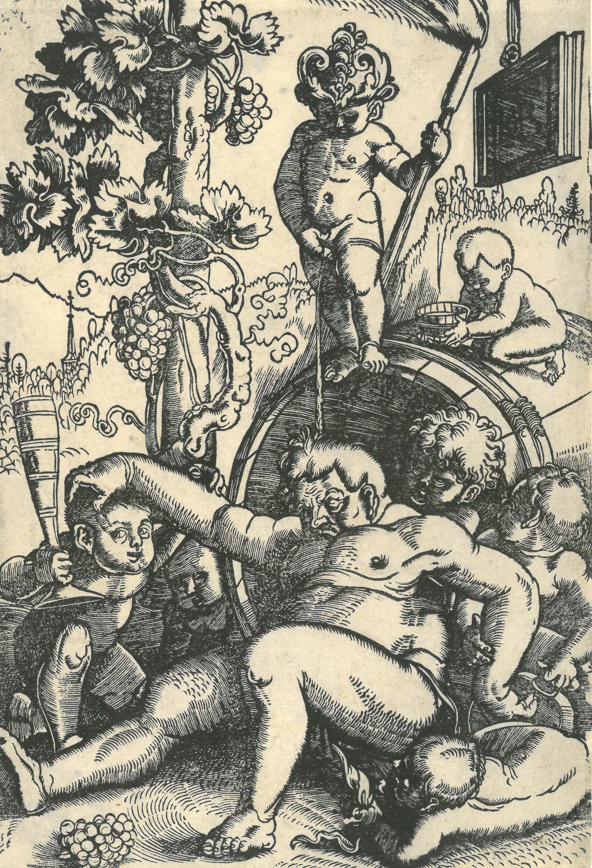 Image of Hans Baldung Grien: The Drunken Bacchus, 1520