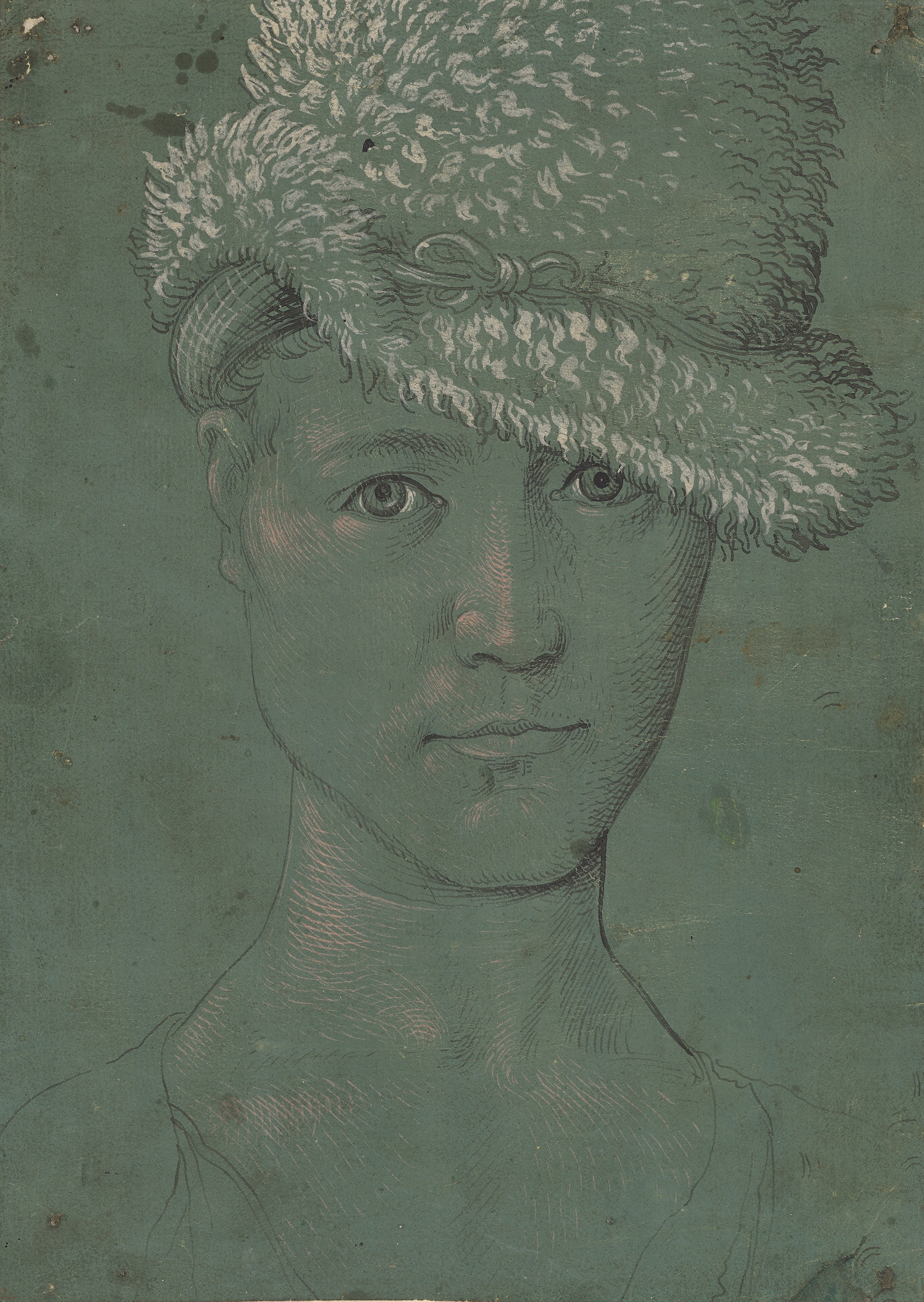 Image of Hans Baldung Grien: Youthful Self-Portrait, around 1502, lent by Kunstmuseum Basel.