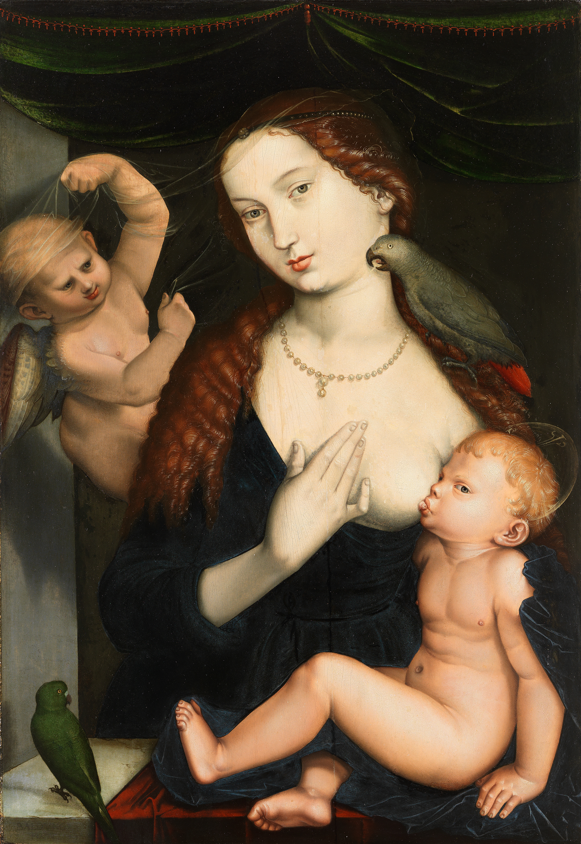 Image of Hans Baldung Grien: Virgin with the Child and Parrots, 1533, lent by Germanisches Nationalmuseum Nuremberg.