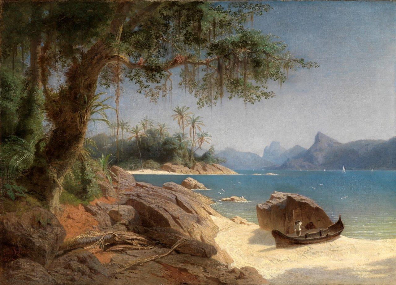 Kellers Gemälde Küstenlandschaft bei Rio de Janeiro