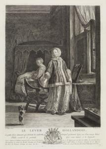 Pierre-François Basan nach Frans van Mieris: Das holländische Lever, um 1754.