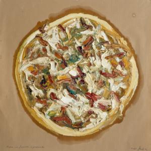 Abbildung des Werks Pizza finocci e prosciutto von Ralph Fleck aus dem Jahr 1994.