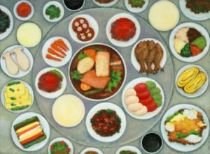 Abbildung des Werks Abendmahl von So-Jin Kim aus dem Jahr 2014.